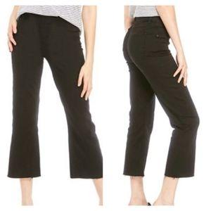Spanx Black Pull-On High Waist Crop Jeans